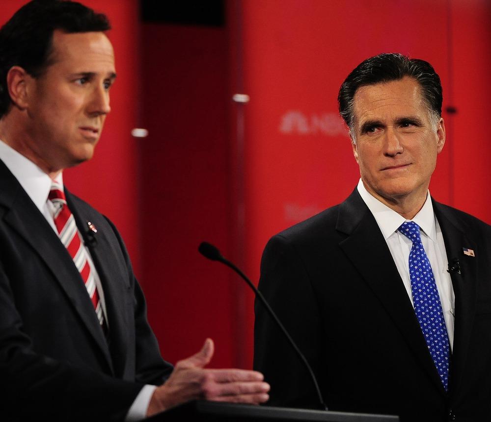 Image: Santorum Romney