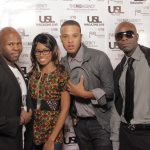 Grammy Winning Producer Magnedo7, His Wife and Inspirational Artist Shameia LaCrawf, Rap Artist Kalii Kal and Editor-In-Chief of USL Magazine - Patrick Kelly