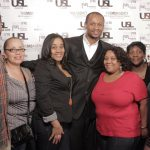 Je' Wesley Day (middle) with friends & family @ USL Magazine's Issue Release Party