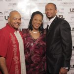 (L-R) Mike WoolFolk - Media Relations Consultant, Blogger, Freelance Broadcaster and Award-Winning former Television News Anchor, Angela Robinson - Emmy Award Winning Journalist & Host of In Contact TV Show w: Je' Wesley Day of Organix Food Lounge