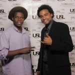 Style & Betas TV host Aug M w/ Friend @ USL Magazine's Issue Release Party