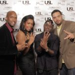 TV Producer Jamaal Smith, Christina Fernander of The MI3 Agency, Int'l Producer Papa of PapaRoc w: Javar Young of The MI3 Agency