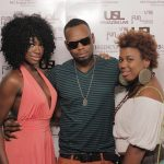 USL Magazine's Top Models Kenya Thomas, Pop Artist Jah The Element and Friend @ USL Magazine's Issue Release Party