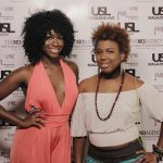 s Top Model Kenya Thomas with Friend @ USL Magazine's Issue Release Party