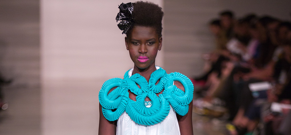 A hot new model at the Australian Indigenous Fashion Week