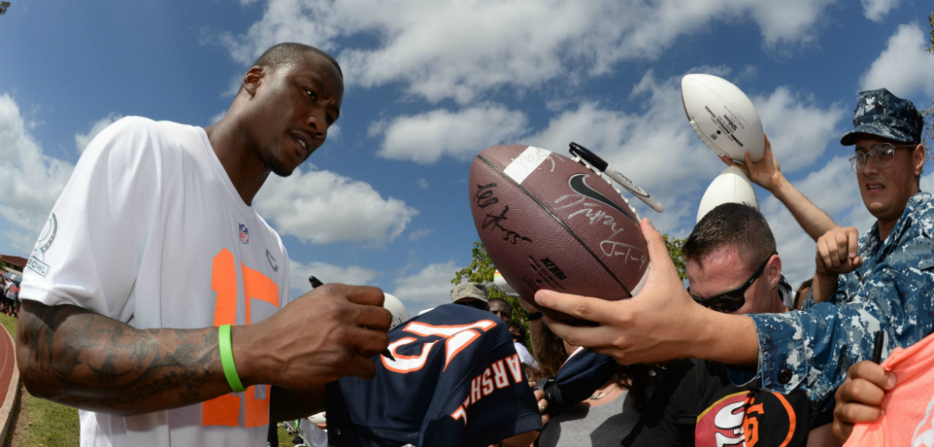 Bears WR Brandon Marshall dismisses rift with QB Cutler, 'We're great'