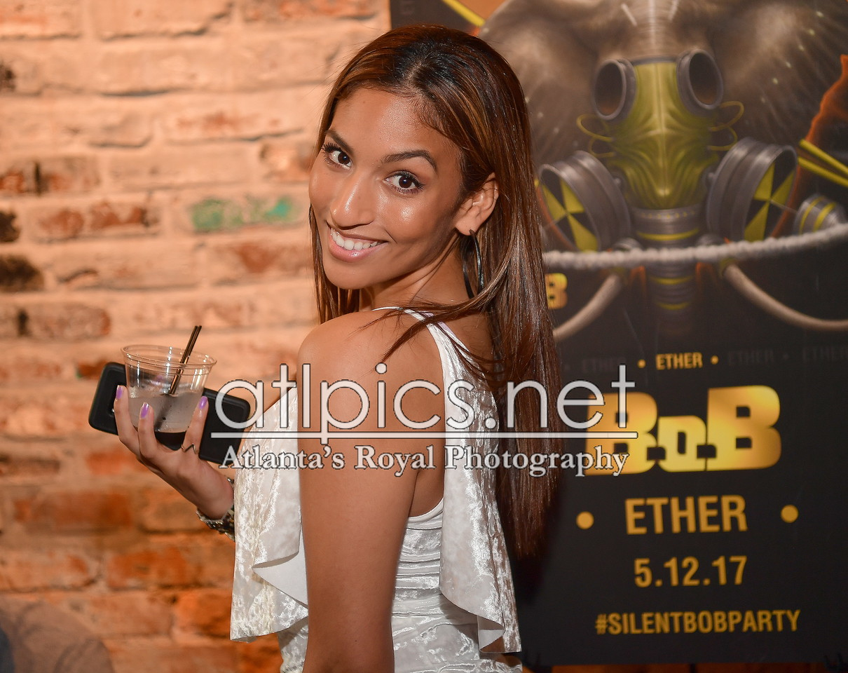 b.o.b silent listening party in atlanta for new album ether